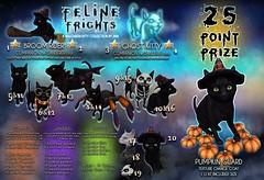JIAN Feline Frights (The Epiphany Oct.) ([JIAN]) Tags: secondlife mesh pets animals cats halloween festive ghost black gacha jian