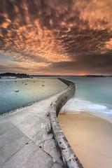 Le Mole des Noires (Ludovic Lagadec) Tags: saintmalo bretagne illeetvilaine france marin marée mer manche seascape sea sky sunset stmalo water