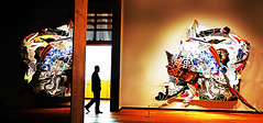 Melville in Montréal (kirstiecat) Tags: frankstella montrealmuseumoffinearts canada quebec art silhouette sculpture painting hermanmelville pitchpoling gallery museum stranger beautiful inspiring creative artistic colors street canon peopleexperiencingart shadows