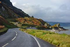 Coast Road - Glenarm, Co Antrim (Eskling) Tags: coast road glenarm coantrim northern ireland sea sky cliff green brown landscape