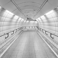 Tunnel Vision, London (SNeequaye) Tags: london england uk unitedkingdom nikon nikon105mmfisheye fisheye riverthames towerbridge theshard canarywharf londonunderground underground tube rail still slowshutter slowexposure eastlondon southlondon 122leadenhallbuilding cheesegrater herontower tower42 gherkin 20fenchurchstreet leendgraduatedfilter leefilter neutraldensityfilter nd blackwhite bw black white view thecity thesquaremile skyline bigben londoneye palaceofwestminster londonbridge southwarkbridge nikond750 tamron tamron2470mm 2470mm sigma sigma35mm millenniumbridge londonbridgestation hungerfordbridge southbanktower waterloobridge nikon1635mm 1635mm architecture building waterloostation tunnel night