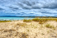 Petosky State Park (Herculeus.) Tags: 2017 bay beach clouds country dunes evergreens fall grass landscape landscapes littletraversebaymi mi oct outdoor outdoors outside people petosky sand shoreline sunset trees water waves usa sky petoskystatepark
