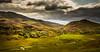View near Errogie, Scotland (Mister Electron) Tags: nikond800 scotland scottishhighlands highlands highlandsandislands mountains hills heather clouds weather windingstream sunlight landscape wilderness invernessshire