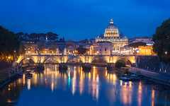 Vatican View (mibreit) Tags: rome roma rom italy italien vatican blauestunde bluehour view travel