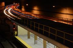 Riding the light . . . (MAX!!!) Tags: timeexposure lighttrails toronto ttc subway davisville