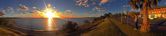 Contemplating Sunset (M. Paula Zuluaga) Tags: sunset atardecer river uruguay colonia coloniadelsacramento water sun promenade rambla ríodelaplata río