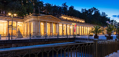 _MG_2682_web - Mlynska Kolonada in KV (AlexDROP) Tags: 2017 karlovyvary carlsbad czechrepublic travel architecture color city wideangle urban night circpl spa resort scape river tepla canon6d ef16354lis historicalplace best iconic famous mustsee picturesque postcard hdr panoramic europe