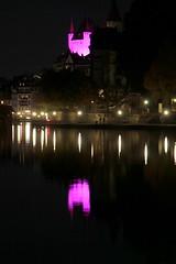 Schloss Thun ( Baujahr um 1190 durch die Zähringer - château castello castle ) über der Aare ( Fluss river ) in der Altstadt - Stadt Thun im Berner Oberland im Kanton Bern der Schweiz (chrchr_75) Tags: christoph hurni schweiz suisse switzerland svizzera suissa swiss chrchr chrchr75 chrigu chriguhurni chriguhurnibluemailch oktober2017 oktober 2017 albumzzz201710oktober albumregionthunhochformat thunhochformat hochformat albumschlossthun schlossthun schloss château castle stadt city ville kantonbern berner oberland albumstadtthun thun thoune stadtthun kanton bern bärn berneroberland kaupunki città シティ stad ciudad