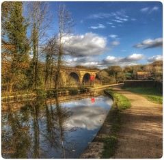 Marple Aquduct & Viaduct on The Peak Forrest Canal  UK (hussey411) Tags: photography iphone7plus iphone reflections canal marple uk