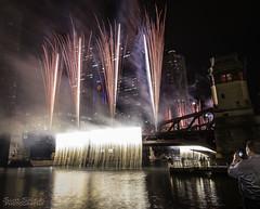 Chicago Oktoberfest (Scott Shields Photo) Tags: chicago oktoberfest bridge drawbridge fireworks pyrotechnics waterfall firefall