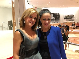 Maggy Cuesta, Dean of Visual Arts at NWSA/MDC College and guardian angel- NWSA Director of Marketing and Communications Maria Flores, who made this amazing fundraising night possible.