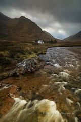 Autumn, River Coupall, Glencoe (pixellesley) Tags: glencoe scotland rivercoupall autumn river mountains rainclouds wet damp moorland rocks splash landscape lesleygooding walking trecking