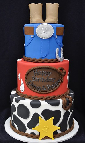 Phenomenal Cowboy Cowgirl Birthday Cake A Photo On Flickriver Personalised Birthday Cards Bromeletsinfo