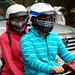 A motorcycle couple, . Ho Chi Minh City, Saigon, Vietnam