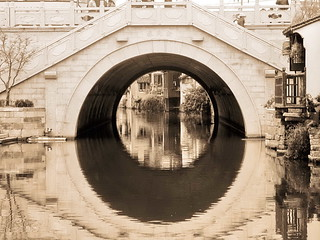 Pont à forme géométrique de Suzhou en Chine
