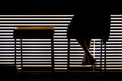 Waiting (CoolMcFlash) Tags: woman date sitting waiting bar night nightlife canon eos 60d lines seat minimalistic minimalism minimalistisch geometry silhouette contrast frau sitzen warten nacht nachtleben linien sitz geometrie kontur fotografie photography alone alleine tamron a007 2470