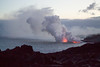 The Four Elements (Mike Sirotin) Tags: glow lavaflow landscape cliffs kilauea lava hawaiivolcanoesnationalpark lavarocks eruption kīlauea oceanpacificocean kamokuna nature twilight hawaiʻivolcanoesnationalpark clouds lavafield volcano steam bigisland hawaii