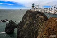 Point Bonita Lighthouse from the Other Side (Don Dunning) Tags: architecture building california clouds governmentbuilding lighthouse marinheadlands ocean pointbonitalighthouse unitedstates water