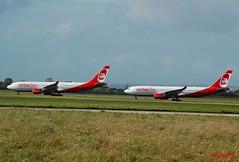 AIR BERLIN A330s D-ALPB& D-ALPF (Adrian.Kissane) Tags: airberlin shannon a330 dalpb dalpf 432 476