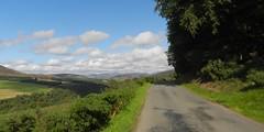 Road to Glen Prosen, Airlie, Kirriemuir, Sep 2017 (allanmaciver) Tags: glen prosen kirriemuir angus scotland trees clouds countryside unspoiled road route narrow viewpoint hills glens allanmaciver