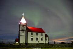 Aurora Over Kálfatjmarkirkja (Ralph J Clark) Tags: auroraborealis northernlights iceland kàlfatjmarkirkja church