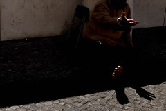Beggar (Alberto Pérez Puyal) Tags: 2017 alberto beggar fatima foot hand light perez poor portugal poverty puyal sad shadow