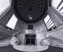 Hurt Foyer (4 Pete Seek) Tags: hurtplaza atlanta atlantageorgia atl architecture atlantaarchitecture openhouseatlanta ohatl classicarchitecture wideangle ultrawideangle superwideangle swa uwa wa bw blackwhite blackandwhite