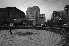 The Approach (Meleager) Tags: bw black white washington square new york city nyc nikon d700