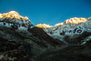 Annapurna range lit up (siam wahid) Tags: mountain sky landscape abc travel trek annapurna mountainscape nature