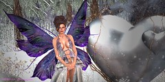 Butterfly in the Snow (catarina.sharktooth) Tags: butterflies magic friends mystical fairy fairytale snow portrait