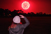 Red Sky (David Blandford photography) Tags: madame cerise model night fireworks cold poole park dorset