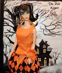 1967 Vintage TNT Mod Chocolate Bon Bon Barbie (The doll keeper) Tags: ooak 1967 vintage mod tnt chocolate bon bonbon barbie doll halloween dress