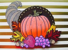 Cornucopia - gold stripe (dobie256) Tags: swapbot 2017 stamplistic cornucopia vegetables harvest autumn thanksgiving