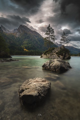 Der Hintersee (Croosterpix) Tags: morning lake water rocks trees mountains clouds sky gray hintersee bayern bavaria germany sony a7r nikkor1835 nisi landscape nature