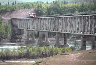Peace River Bridge runby, BCOL RDCs BC-10 and BC-12 on May 23, 1992