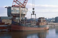 Lady Morven - Ayr - 1976 (MarkP51) Tags: ladymorven ayr 1976 clydepuffer cargo kodachromeii slide film scan ship boat vessel water maritimephotography