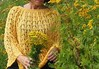 mantella traforata gialla (stranelane1) Tags: mantella cape cotton cotone yellow giallo maglia knitted knitting knit knitter tricot