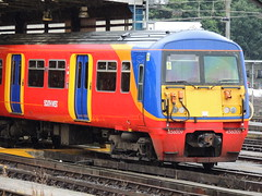 A South West Trains Class 456 stabled at Clapham Junction, London (Steve Hobson) Tags: south west trains swt class 456 emu clapham junction london