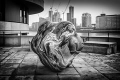 Sculpture, Embankment (Camera Freak) Tags: 170207englanditaly 2017 england london art monochrome blackandwhite leica leicam10 m10 embankment millbank sculpture