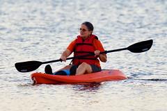 Sandra Burford Kayaking (dbadair) Tags: outdoor seaside shore sea sky water nature wildlife 7dm2 gulf ft desoto bird