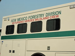 New Mexico Forestry Division Wildland Crew near Oakland CA heading to Wine Country Fires (xaviergardens) Tags: winecountryfires california forestfire urbanfire firefighters disaster newmexicoforestrydivision heroes sanfranciscobayarea