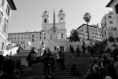 P52 Week 41   Step Back (Steph*Powell) Tags: spanishsteps rome monochrome tourist tourism nikon d5100