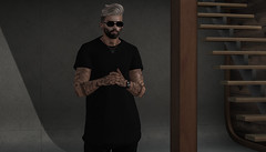 { Connor } ({ Max Hades }) Tags: skin head body bento tattoo beard hair glasses watch base ear necklace aviglam swallow catwa ana poses volthair ar2 style llorisen zoom rebellion
