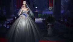 Before the Wedding (Jamee Sandalwood - Miss V♛ SWEDEN 2015) Tags: tiffany model mesh gown blog bride bridal formal white wedding floral veil altar