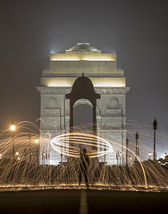 Steelwool at India Gate (Sourabh Gandhi) Tags: diwali deepawali india 2017 2016 2012 intriguing moment happy indian images photos photo photography fireworks golden temple gate steel wool photographer instant exposure long iamnikon nikon photographing