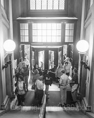 Inside the Gould Memorial Library, Bronx Community College, New York City (jag9889) Tags: 2017 20171015 allamericacity architecture bw bcc blackandwhite bronx bronxcommunitycollege building cuny chandelier cityuniversityofnewyork college decorative entrance event gould hanginglight house indoor interior landmark library lightfixture monochrome ny nyc newyork newyorkcity newyorkisopen ohny ohnyweekend openhouse openhousenewyork outdoor people stairway thebronx usa unitedstates unitedstatesofamerica universityheights westbronx window door jag9889