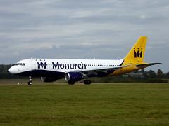 G-ZBAP Airbus A320-214 cn 1637 Monarch Airlines Luton 23Sep17 (kerrydavidtaylor) Tags: ltn eggw bedfordshire a320 a320200