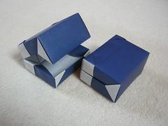 Hinged boxes (Mélisande*) Tags: mélisande origami box hinge charnière