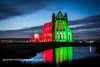 Whitby Abbey Illumination (jameshowardphotography) Tags: whitby gothic goth pond water green grass red long exposure ruins architecture arch dusk yorkshire north northyorkshire northeast northern