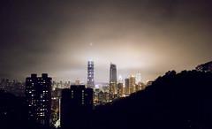 Taipei City (DeuxDestins) Tags: taipei montelephant nuit brume tours tour101 ville asie taiwan buildings gratte ciel lumières nuages lights clouds sky asia ngc